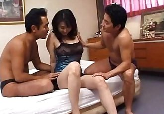 Mature gets two guys to fuck her hard - 8 min