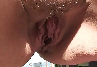 He nails her old pussy on public - 6 min HD