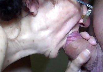OldNanny Mom and Teen masturbating and sucking dick boyfriend - 8 min HD