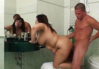 He gets busted fucking his GFs old mom - 6 min