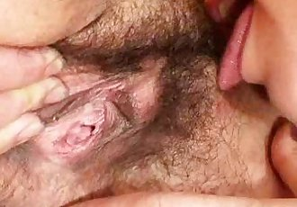 Extremely hirsute amateur matured Hedvika lesbian action - 6 min