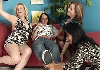 Horny MILFs In A Wild Foursome!HD