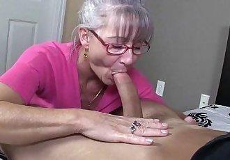 Horny Granny Sucks A Young Dick - 4 min HD