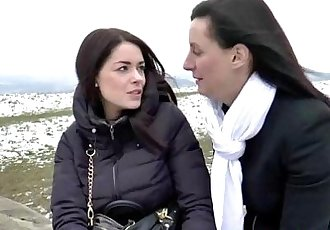 Lesbian mature amateur eats pussy