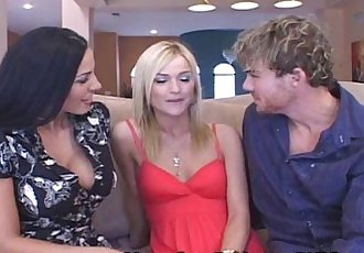 Teen Joins Swinger Couple - 5 min