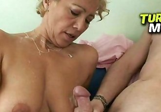 Skinny milf from Hungary Aniko wild sex in a grocery