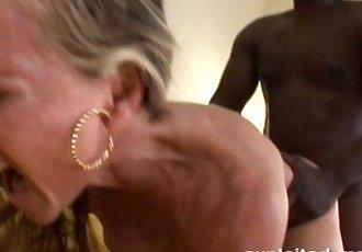 cute blonde milf fucking big black cock - 5 min