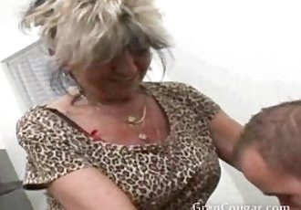 Sexy old granny wants him now and wont stop til she gets it - 3 min