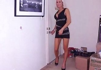 Big-Titted Milf Jerks Off A Young Dude