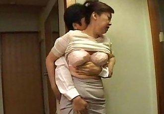 Japanese step mom milf with big tits getting pleasured - 7 min