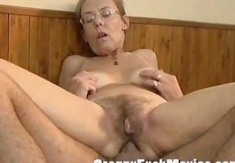 Old granny fucked hard in her hairy ass - 5 min