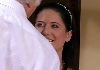 Brunette wife is banged by a stranger - 6 min