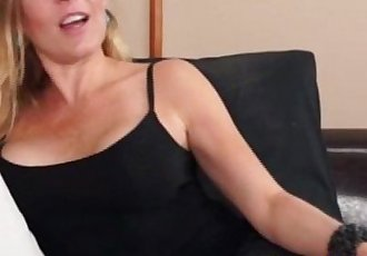 Bigtitted milf tugging on stepson cock