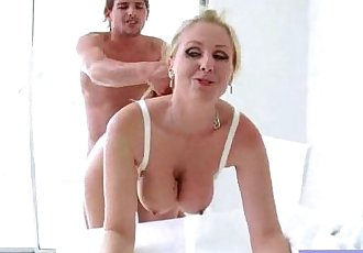 Big Juggs Slut Wife Banged Hardcore On Tape video-14