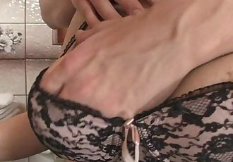 She rides my cock and wife comes in - 6 min