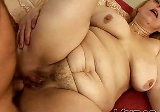 OLD, FAT GRANDMA FUCKS WITH YOUNG STUD !! - 6 min HD