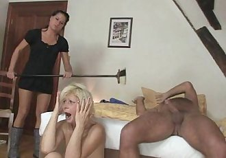 My blonde mother in law seduces me into sex - 6 min