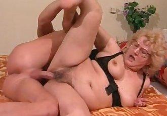 Young stud fucks horny granny