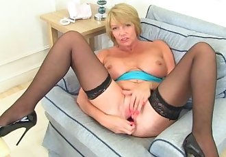 British milf Amy fulfills her honey pot\
