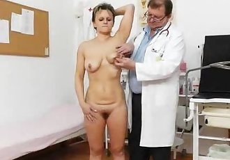 Slender wife with a bushy fuck hole