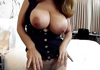 Latina milf huge natural tits behind the scenes