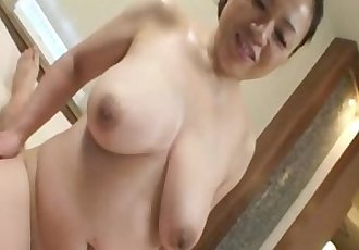 Reina Imoto - Busty JAV Mature Bouncing On Young Cock